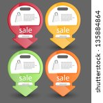 web banners best for sale... | Shutterstock .eps vector #135884864