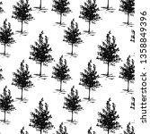 trees sketch background.... | Shutterstock .eps vector #1358849396