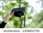 graduates are expressing joy at ...   Shutterstock . vector #1358852750