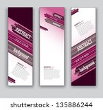 vector banners. set of three....