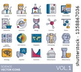 science icons including...   Shutterstock .eps vector #1358867036