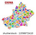 mosaic xinjiang uyghur region...   Shutterstock .eps vector #1358872610