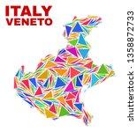 mosaic veneto region map of...   Shutterstock .eps vector #1358872733
