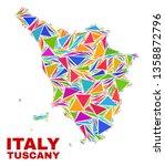 mosaic tuscany region map of...   Shutterstock .eps vector #1358872796