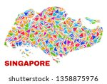 mosaic singapore map of... | Shutterstock .eps vector #1358875976