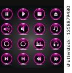 neon black pink button music...