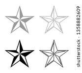 star  five corners pentagonal... | Shutterstock .eps vector #1358882609