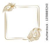 vector vintage square frame... | Shutterstock .eps vector #1358885243