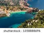 amazing coastline with colorful ... | Shutterstock . vector #1358888696