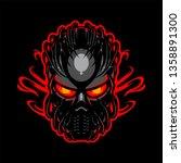 Black Mask Mascot Logo For...