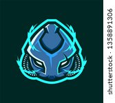 Robot Head Mascot Logo For...