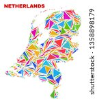 mosaic netherlands map of... | Shutterstock .eps vector #1358898179