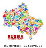mosaic moscow region map of...   Shutterstock .eps vector #1358898776