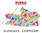 mosaic kalinigrad region map of ...   Shutterstock .eps vector #1358901689
