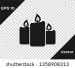 grey burning candles icon...   Shutterstock .eps vector #1358908313