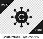grey copywriting network icon... | Shutterstock .eps vector #1358908949
