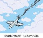falling airplane | Shutterstock .eps vector #135890936