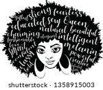 beauty afro woman with words   Shutterstock .eps vector #1358915003