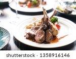 close up of lamb chop | Shutterstock . vector #1358916146