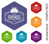 old fortress icons vector... | Shutterstock .eps vector #1358917823