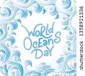 save the ocean. vector... | Shutterstock .eps vector #1358921336