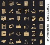 business seminar icons set.... | Shutterstock .eps vector #1358922539