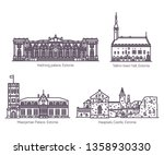 set of isolated estonia or... | Shutterstock .eps vector #1358930330
