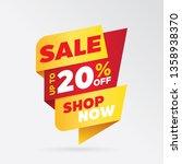 vector sale banner template... | Shutterstock .eps vector #1358938370