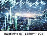 abstract glowing forex chart on ...   Shutterstock . vector #1358944103