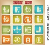 human resource icon vintage... | Shutterstock .eps vector #135894614