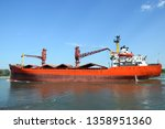 cargo ship  bulk carrier ... | Shutterstock . vector #1358951360