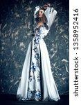 a full length portrait of a... | Shutterstock . vector #1358952416