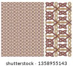 decorative pattern vector for... | Shutterstock .eps vector #1358955143