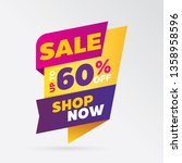 vector sale banner template... | Shutterstock .eps vector #1358958596