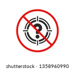 no or stop. target with... | Shutterstock .eps vector #1358960990