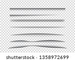 vector shadows isolated.... | Shutterstock .eps vector #1358972699