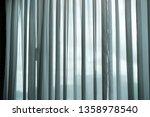 blue grey transparent curtain...   Shutterstock . vector #1358978540