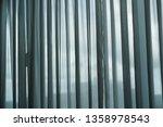 blue grey transparent curtain...   Shutterstock . vector #1358978543