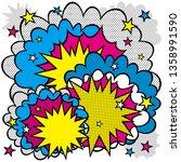 illustration of an explosion or ...   Shutterstock .eps vector #1358991590