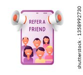 refer a friend concept. people...