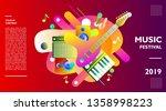 music festival illustration... | Shutterstock .eps vector #1358998223
