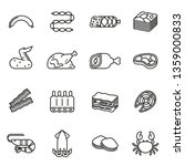 meat   seafood icon set with... | Shutterstock .eps vector #1359000833