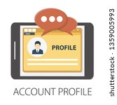 vector illustration of account  ... | Shutterstock .eps vector #1359005993