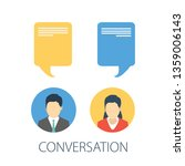 chat conversation messages.... | Shutterstock .eps vector #1359006143
