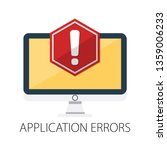 concept of application error.... | Shutterstock .eps vector #1359006233