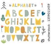 cute scandinavian alphabet ... | Shutterstock .eps vector #1359011459