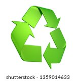 recycle sign isolated. 3d... | Shutterstock . vector #1359014633