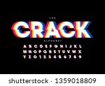 vector of stylized modern font... | Shutterstock .eps vector #1359018809