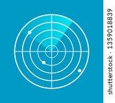radar screen .clipart image... | Shutterstock .eps vector #1359018839