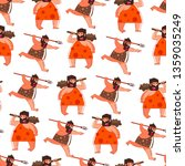 primitive person caveman with... | Shutterstock .eps vector #1359035249